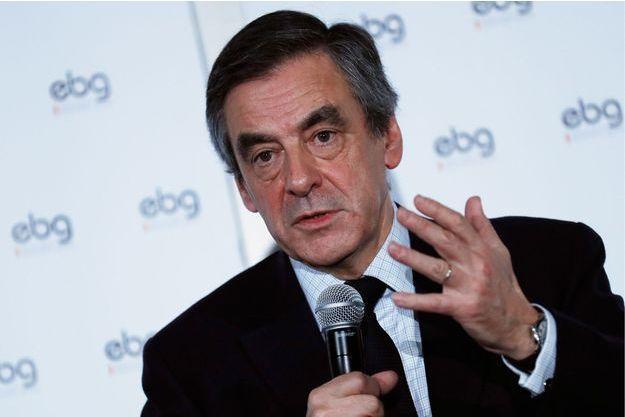 François Fillon se défend sur le «Penelope Gate» lors d'un débat organisé par EBG (Electronic Business Group), le 31 janvier 2017 à Paris.