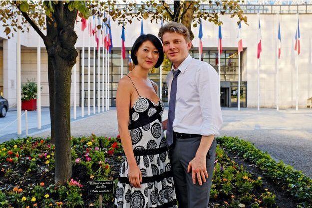 Début août, à Bercy, la ministre déléguée auprès du ministre du redressement productif avec son mari depuis 2011, Laurent Olléon.