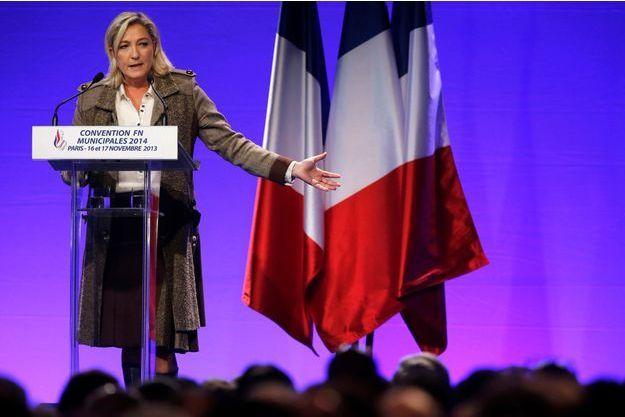 Marine Le Pen le 17 novembre à Paris.
