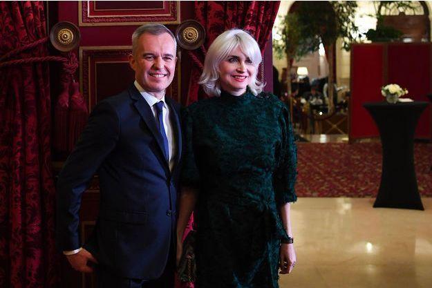François de Rugy et son épouse Séverine le 24 janvier dernier lors d'une soirée de gala à Paris.