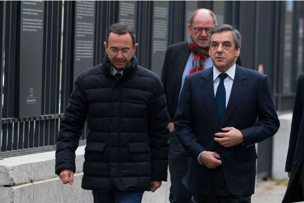 Bruno Retailleau et François Fillon, le 19 novembre 2017.