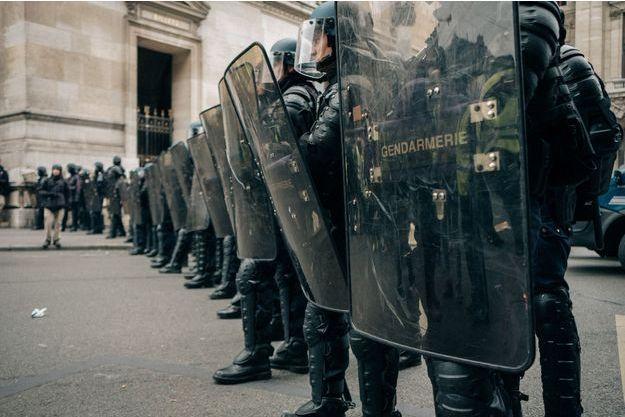 """Place de l'Opéra samedi 15, lors de manifestations des """"Gilets jaunes"""""""
