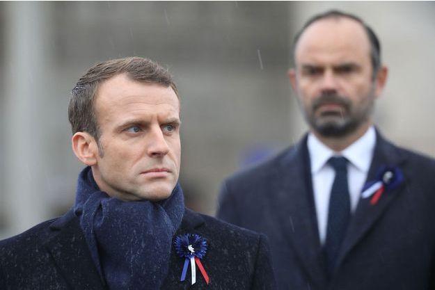 Emmanuel Macron et Edouard Philippe le 11 novembre 2018 à Paris