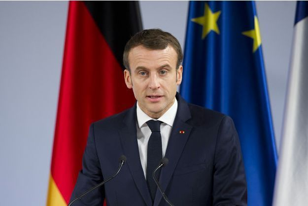 Emmanuel Macron en janvier 2019.