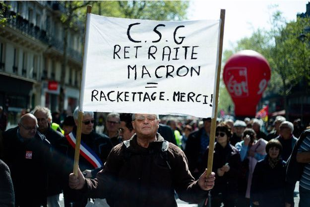 Les retraités ont manifesté à l'appel de la CGT le 11 avril 2019.