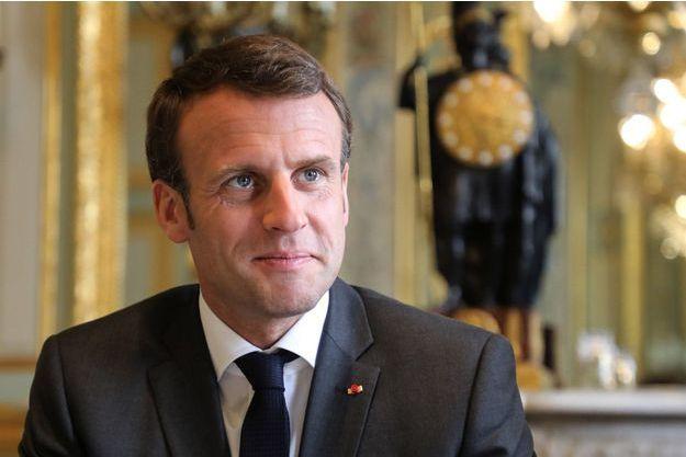 Emmanuel Macron le 12 avril 2019.