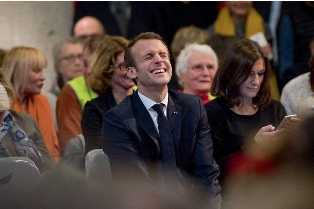 Emmanuel Macron à Bourg-de-Péage le 24 janvier.