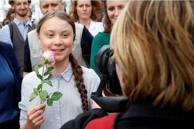 L'adolescente suédoise Greta Thunberg, à Vienne le 31 mai 2019.