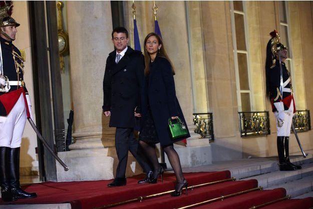 Manuel Valls et Anne Gravoin à l'Elysée en octobre 2015.