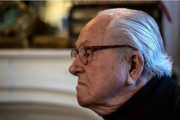 Jean-Marie Le Pen, mercredi dans sa propriété de Montretout à Saint-Cloud.