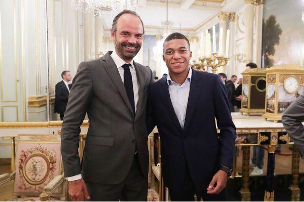 Edouard Philippe et son successeur à Matignon Kylian Mbappé