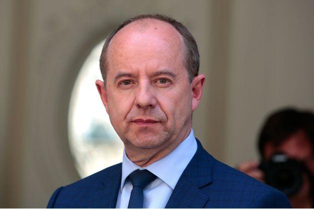 Jean-Jacques Urvoas le 17 mai 2017, lors de la passation de pouvoir au ministère de la Justice.