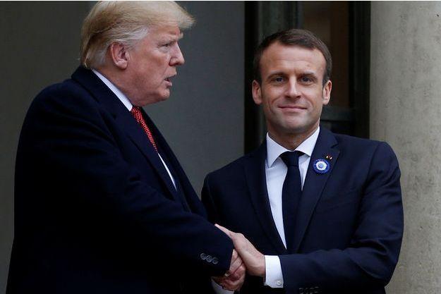 Donald Trump et Emmanuel Macron samedi à l'Elysée.