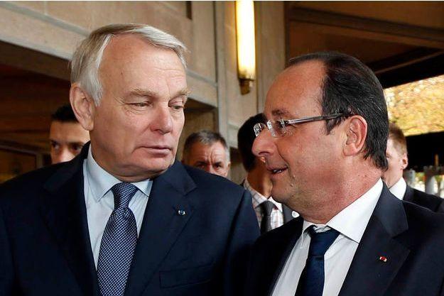 Jean-Marc Ayrault et François Hollande le 20 septembre à Paris.