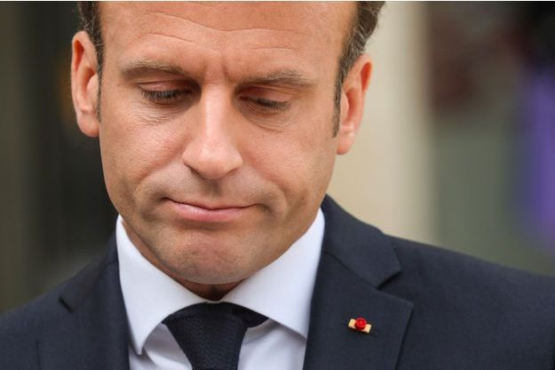 Emmanuel Macron à l'Elysée, le 23 avril.