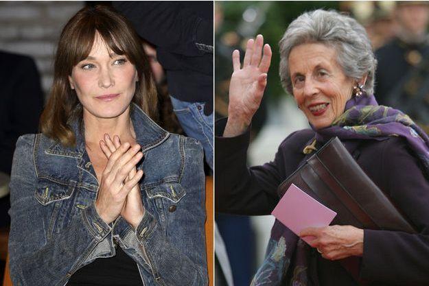 """Carla Bruni a rendu hommage à sa belle-mère Andrée Sarkozy, surnommée """"Dadue""""."""