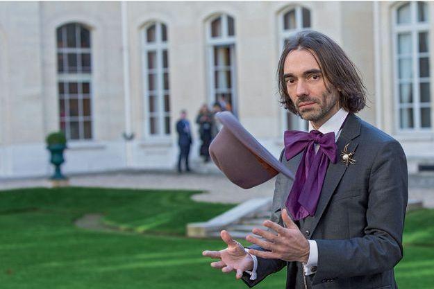 Cédric Villani, lauréat de la prestigieuse médaille Fields, le 14 novembre à la Maison de la chimie à Paris, à l'occasion du forum parlementaire de l'intelligence artificielle.
