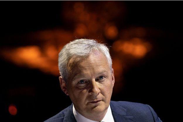 Bruno Le Maire, fin avril lors d'un débat à Paris.