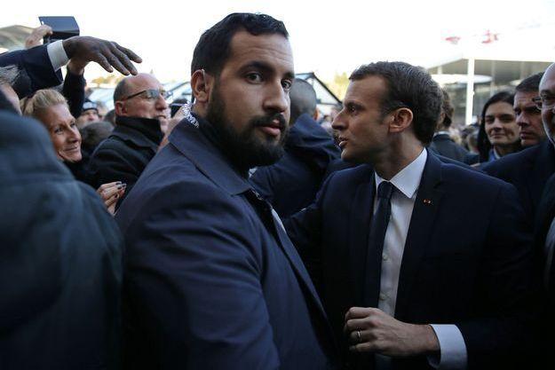 Alexandre Benalla ici avec Emmanuel Macron en février au salon de l'Agriculture.