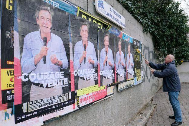 L'affiche de campagne de François Fillon.