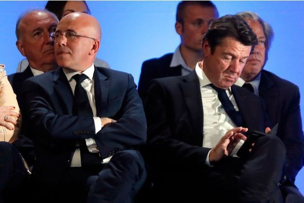 Eric Ciotti et Christian Estrosi lors d'un meeting de François Fillon à Nice, en avril 2017