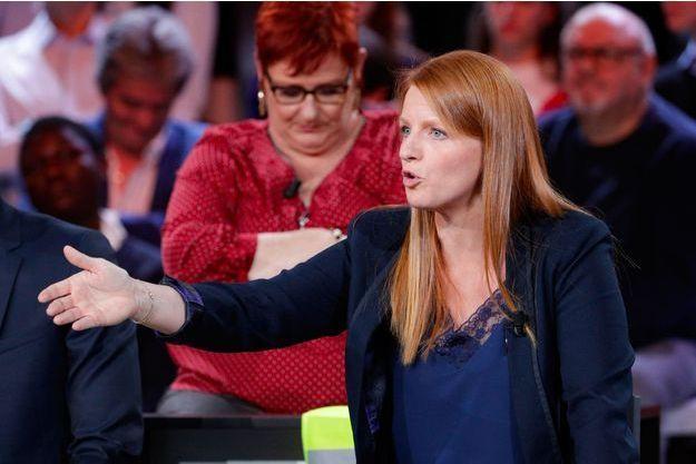 """Ingrid Levavasseur, tête de la liste """"Ralliement d'initiative citoyenne"""", sur France 2 jeudi dernier."""