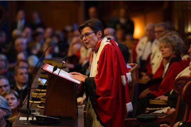 Catherine Champrenault à la cour d'appel de Paris, en janvier 2017.