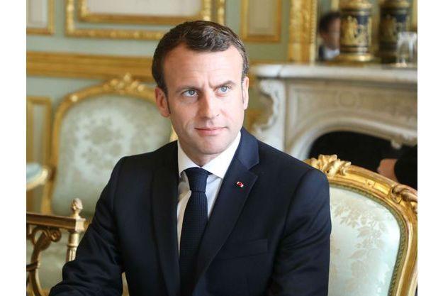 Emmanuel Macron, lundi à l'Elysée.
