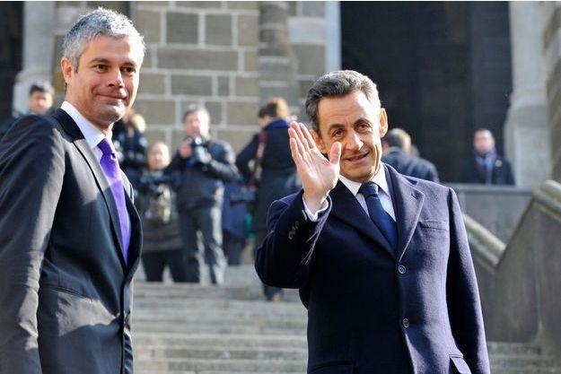 Nicolas Sarkozy et Laurent Wauquiez, au Puy-en-Velay en 2011.