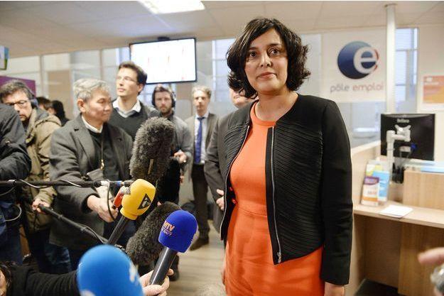 Myriam El Khomri dans une agence Pôle emploi de Saint-Ouen