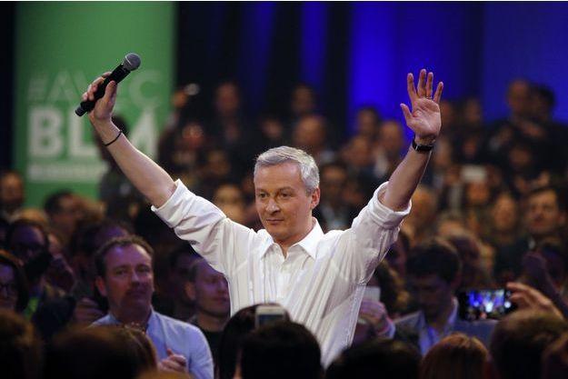 Bruno Le Maire lors de son meeting samedi 5 mars à Saint-Denis.