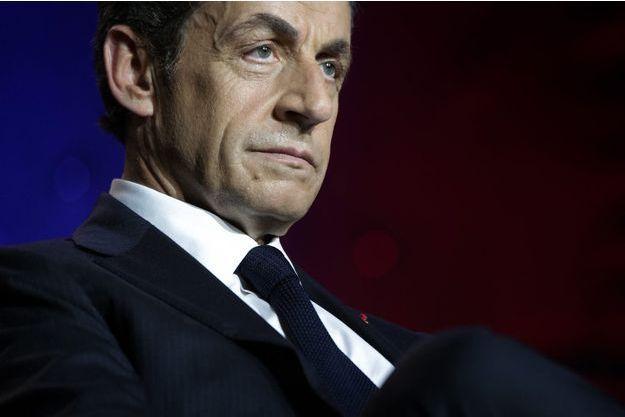 Nicolas Sarkozy en juin 2015, lors d'un meeting à Asnières.
