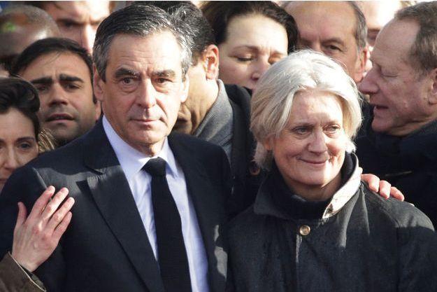 François Fillon et son épouse Penelope, en mars 2017 lors de la campagne présidentielle.