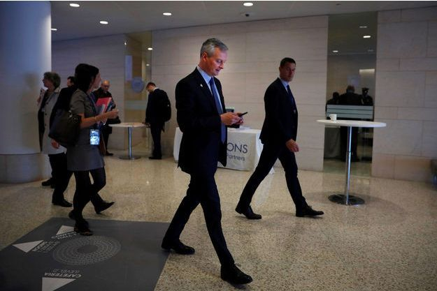 Bruno Le Maire au FMI, à Washington, vendredi dernier.