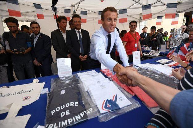 Emmanuel Macron samedi à l'Elysée lors des journées du patrimoine.