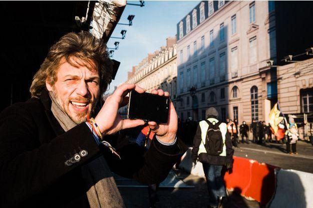 Thierry Paul Valette lors de la manifestation interprofessionnelle du 5 février.