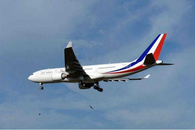 L'Airbus A330 présidentiel lors de son premier vol, en octobre 2010.