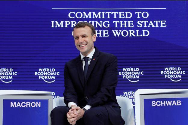 Emmanuel Macron mercredi à Davos.