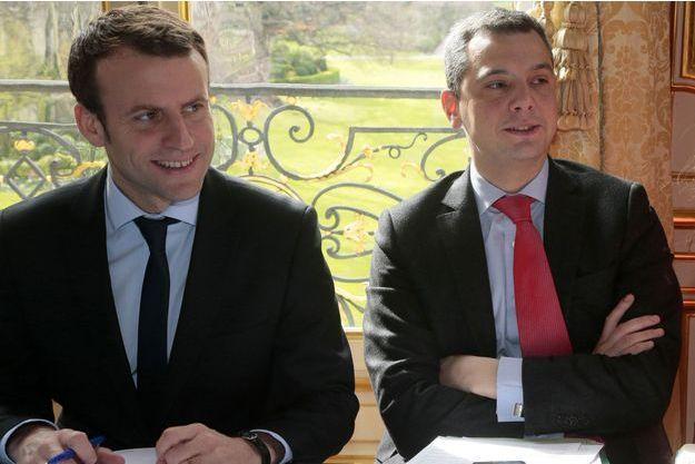 Emmanuel Macron et Alexis Kohler le 7 mars 2016 à Matignon.