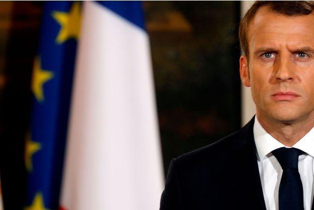Emmanuel Macron à l'Elysée, le 24 octobre.