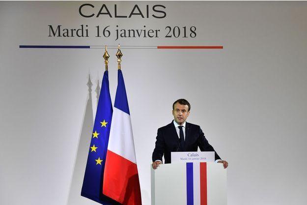Emmanuel Macron, à Calais mardi.