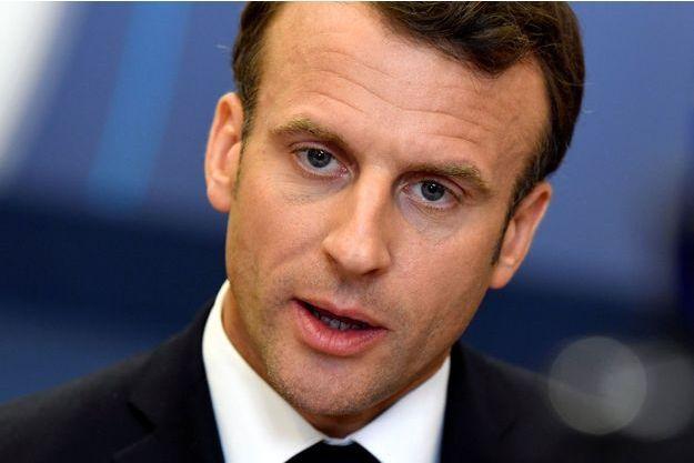 Emmanuel Macron le 28 mai, à Bruxelles.