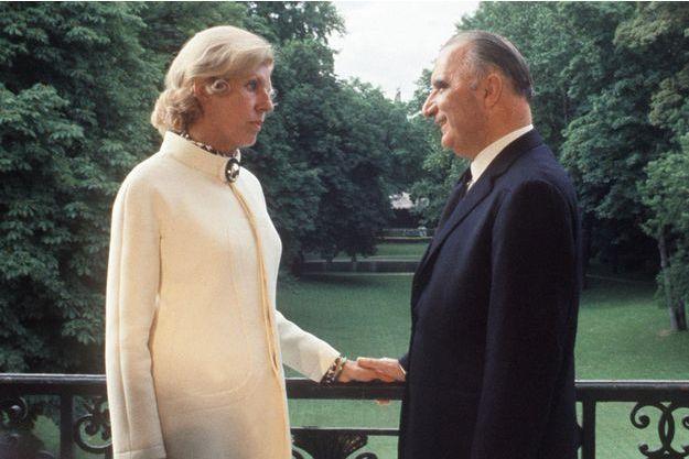 Georges Pompidou et son épouse Claude, le 20 juin 1969, au premier jour de son entrée à l'Elysée après son élection.