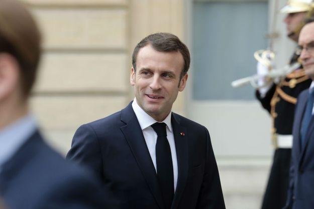 Emmanuel Macron lundi à l'Elysée.