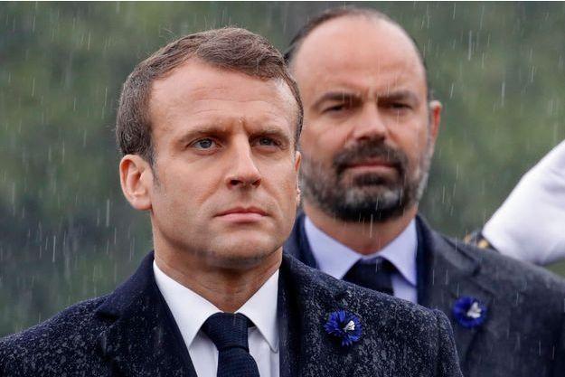 Emmanuel Macron et Edouard Philippe le 8 mai, à Paris.