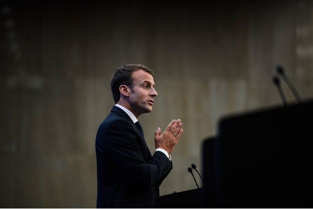 Emmanuel Macron à Sofia en Bulgarie, le 17 mai.
