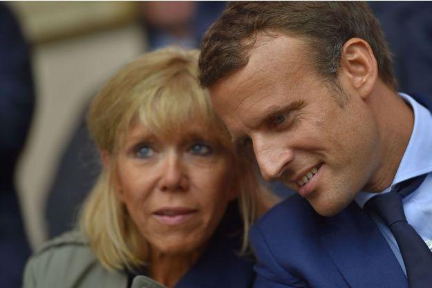 Brigitte et Emmanuel Macron au Puy du Fou en août dernier.