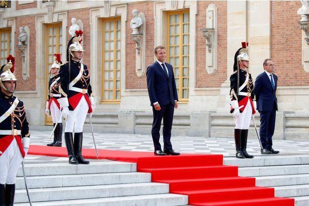 Emmanuel Macron à versailles le 12 septembre.