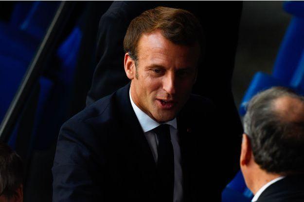 Emmanuel Macron à Lyon pour la finale de la Coupe du monde féminine de football, dimanche.