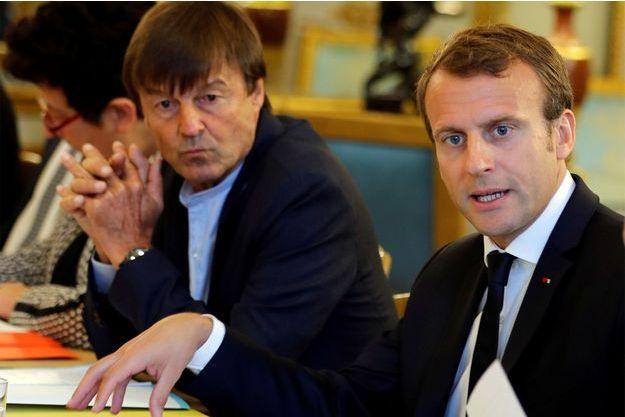 Emmanuel Macron et Nicolas Hulot en 2017.